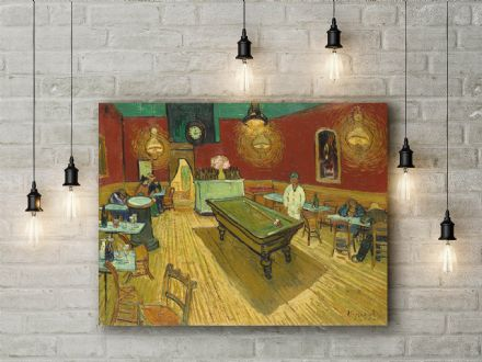 Vincent Van Gogh: The Night Café. Fine Art Canvas.